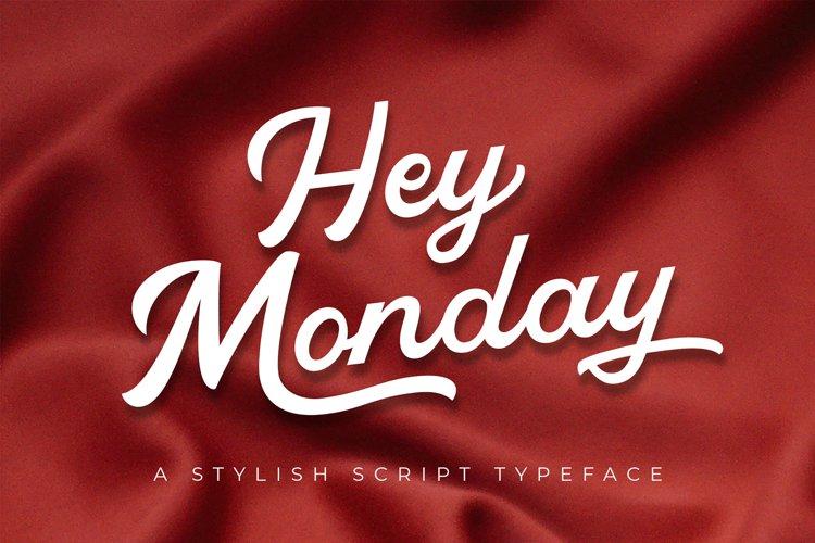 Hey Monday Stylish Script Typeface example image 1