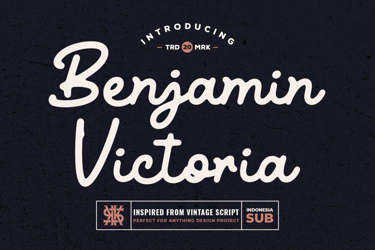Vintage Script Font - Benjamin Victoria example image 1
