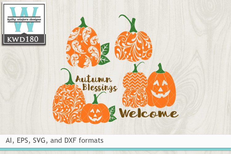Autumn SVG - Decorative Pumpkins