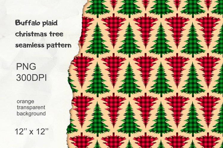 Christmas Tree Pattern, Buffalo Plaid Graphic example image 1