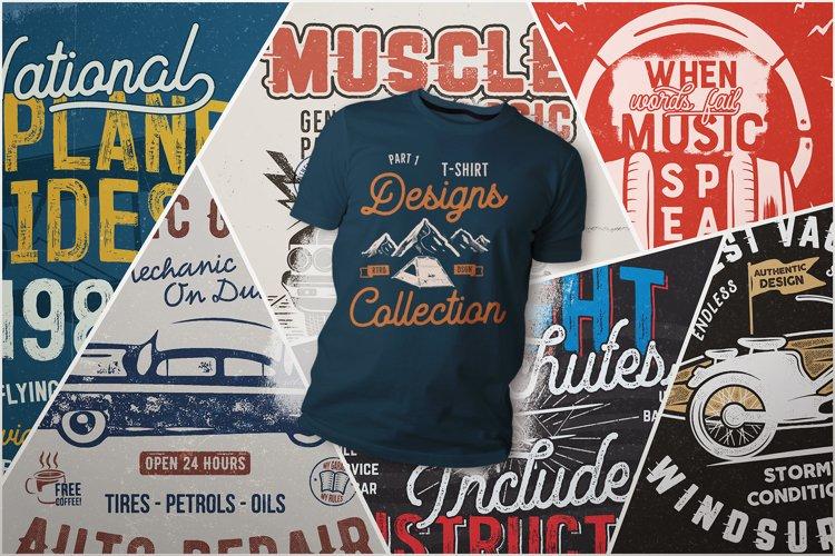 T-Shirt Designs Bundle SVG Retro Sublimation Pack. Part 1