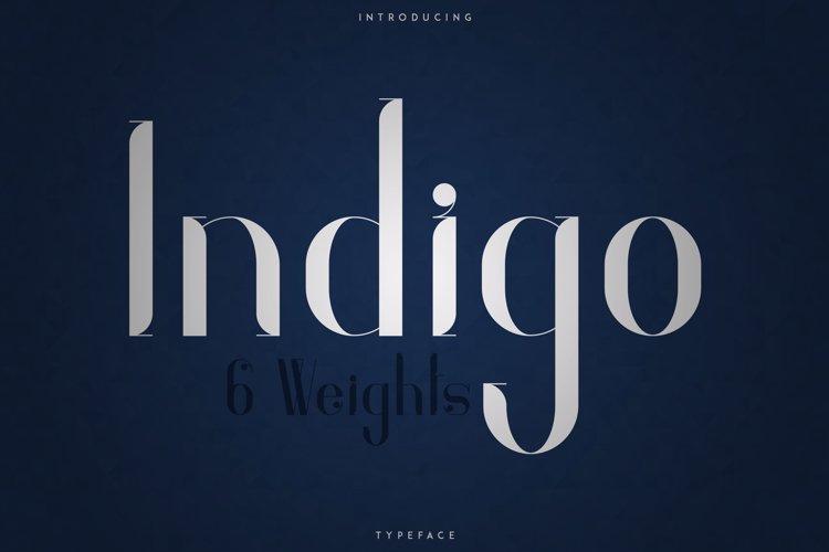 Indigo Typeface - 6 Weights example image 1