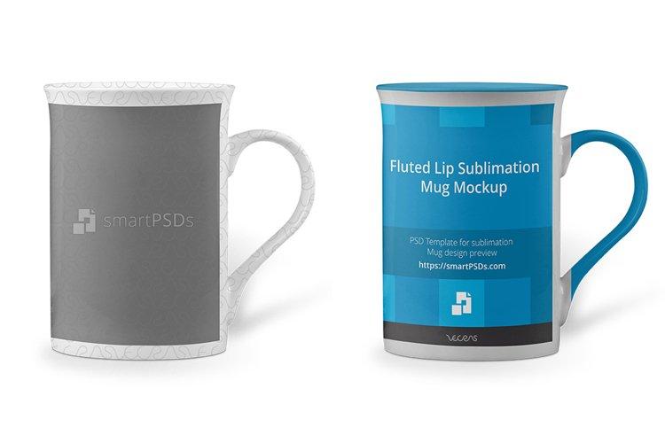 Fluted Lip Sublimation Mug Mockup example image 1