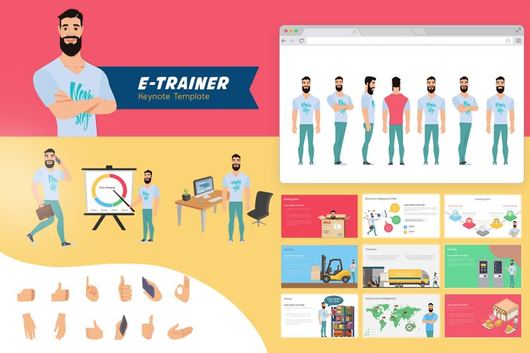 E-Trainer Keynote Template 1 example image 1
