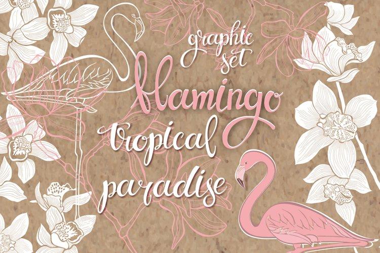 Flamingo. Tropical paradise. example image 1