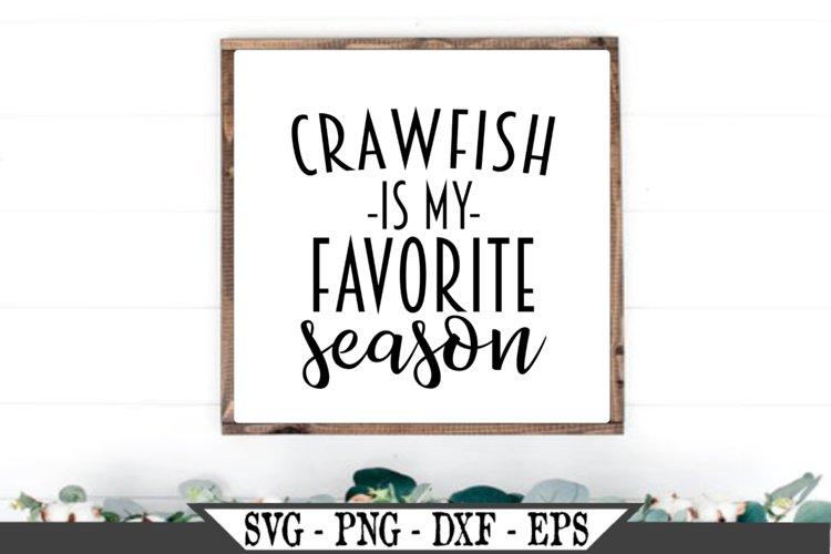 Crawfish Is My Favorite Season SVG example image 1