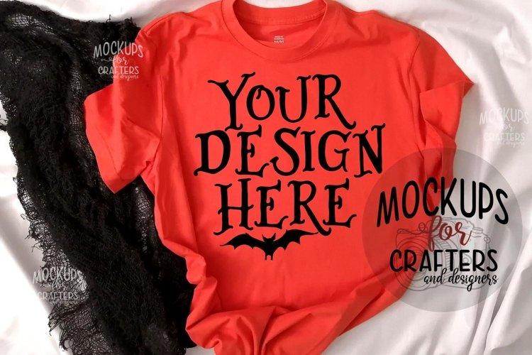 Halloween, Orange T-Shirt Mock-Up example image 1