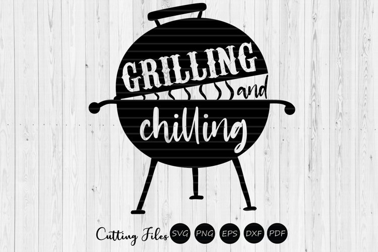Chilling and grilling | summer | SVG Cut File example image 1