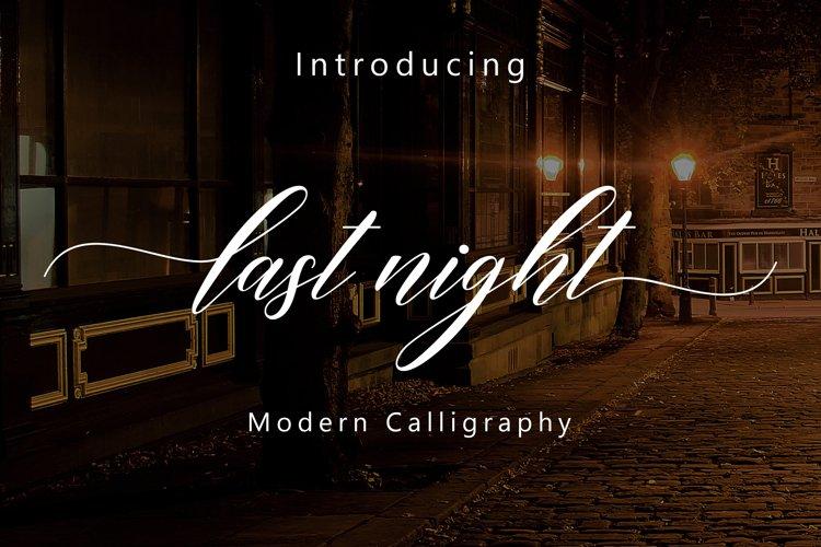Last Night Script example image 1