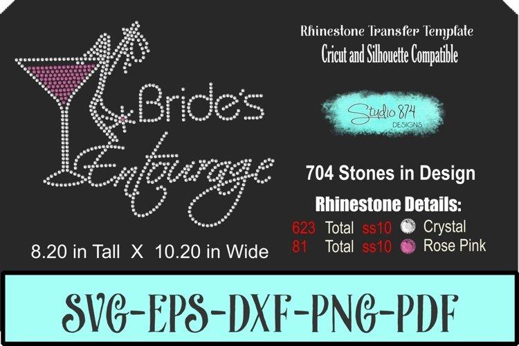 Brides Entourage Rhinestone Template - Wedding/Bachelorette example image 1
