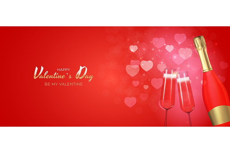 Valentines Day Background Template Card Design