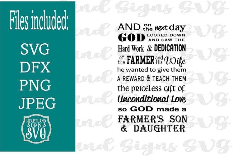 Farmer Son & Daughter SVG