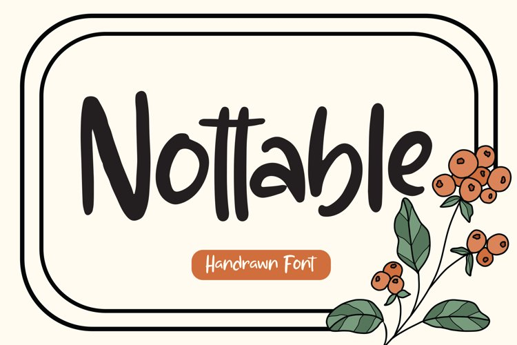 Nottable - Handrawn Font example image 1