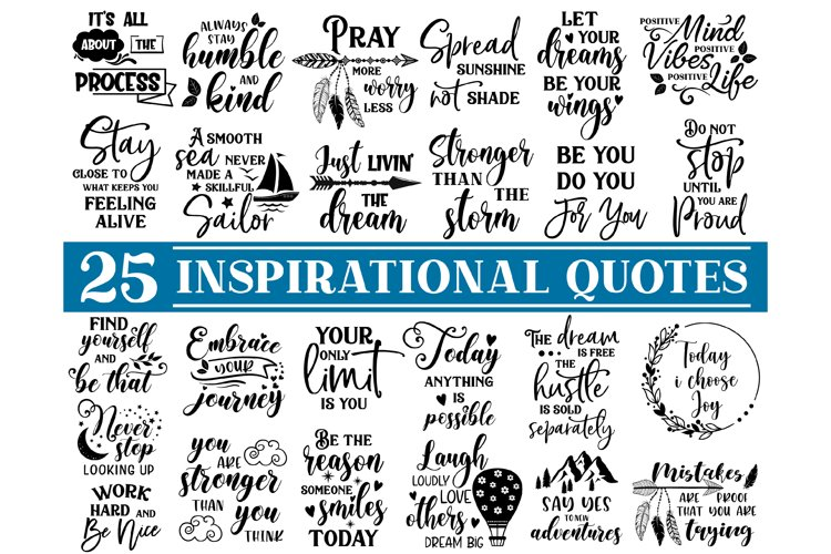 Inspirational quotes SVG Bundle, sayings svg, Cut File SVG example image 1