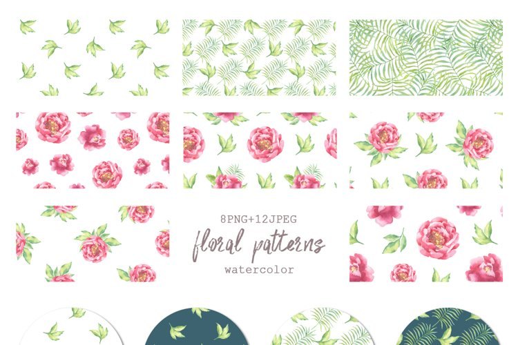 Watercolor Peonies set - Free Design of The Week Design3
