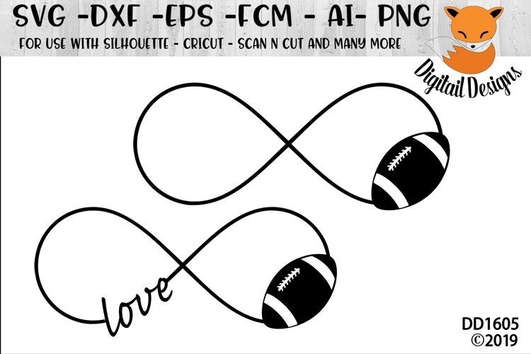 Football Infinity Love SVG