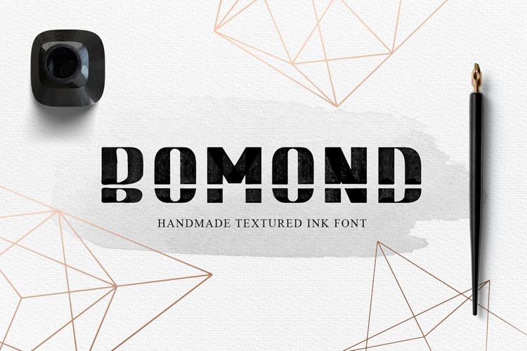 BOMOND. Textured Ink Font example image 1