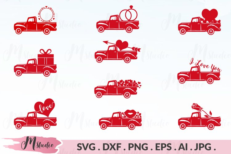 Valentines Truck svg example image 1
