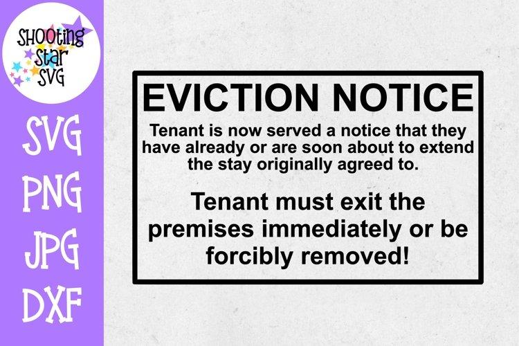 Eviction Notice Overdue - Pregnancy SVG - Maternity SVG