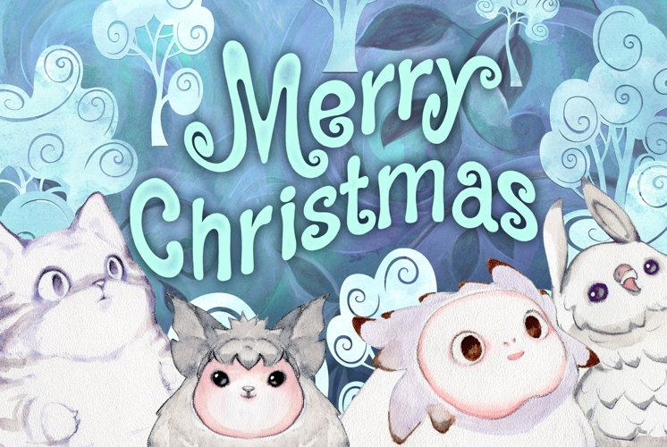 Fairy winter creatures PNG and JPG