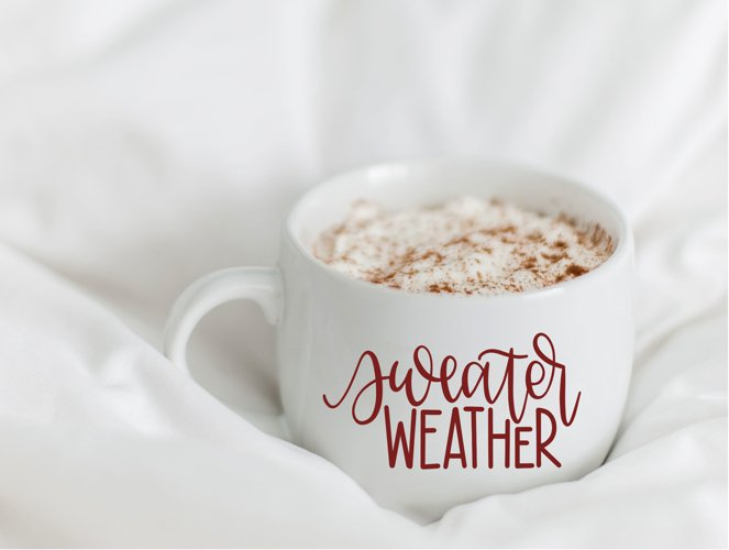 Sweater Weather - Hand Lettered SVG example image 1