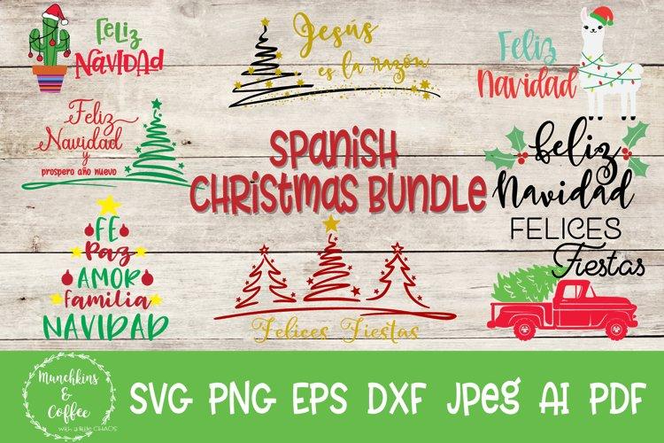 Spanish Christmas Bundle- SVG example image 1