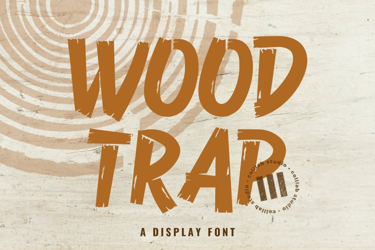 Wood Trap - A Display Font example image 1