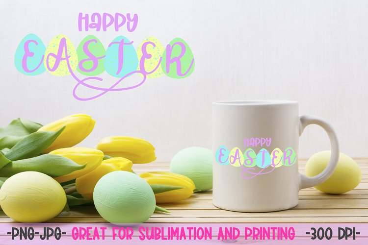 Happy Easter sublimation design PNG example image 1