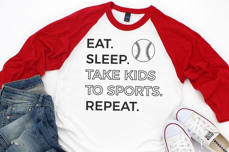 Sports Mom Baseball Shirt SVG example image 1