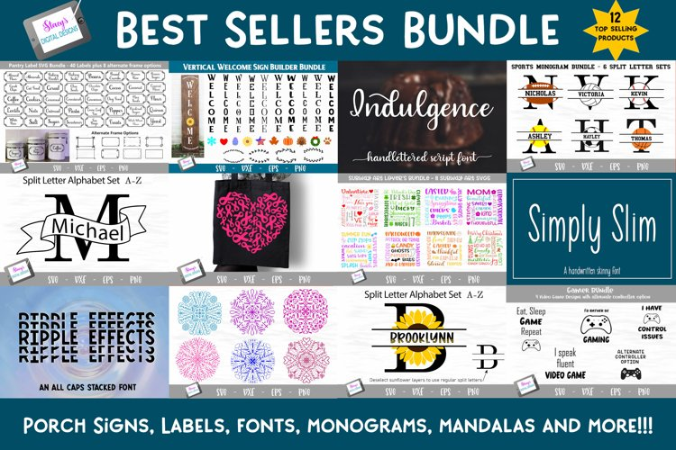 Best Sellers Bundle - SVGs, Fonts, Monograms, and more! example image 1