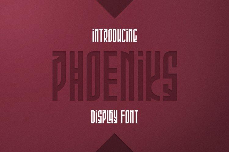 Phoeniks - Display font example image 1