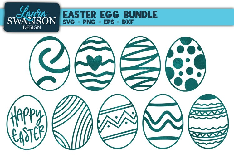 Easter Egg Bundle SVG, PNG, EPS, DXF