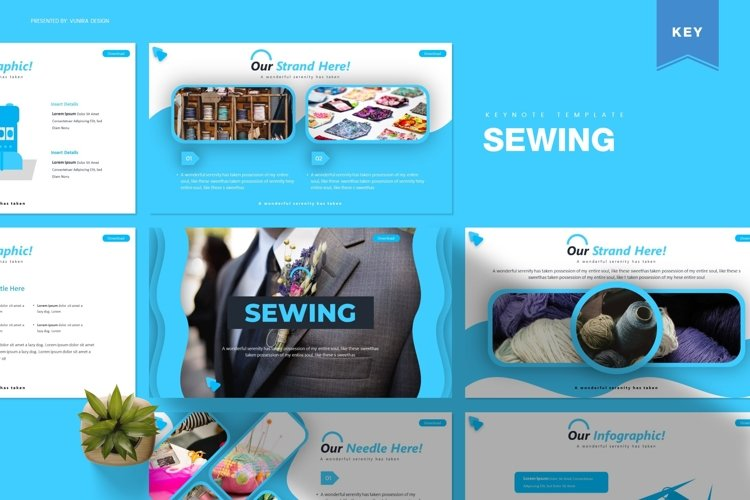 Sewing | Powerpoint, Keynote, GoogleSlides Template example image 1
