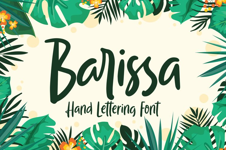 Barissa - Hand Lettering Font example image 1