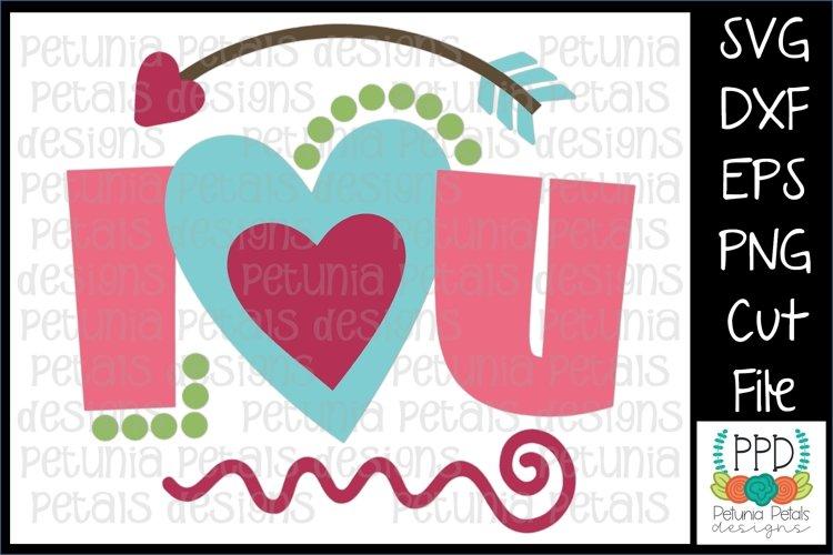 I Heart U Valentine SVG 11237