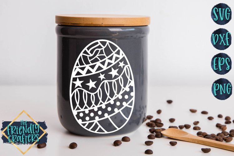 Doodle Egg with Stars - An Easter Cut File