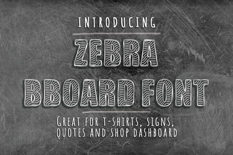 Zebra BBoard - Decorative Font example image 1