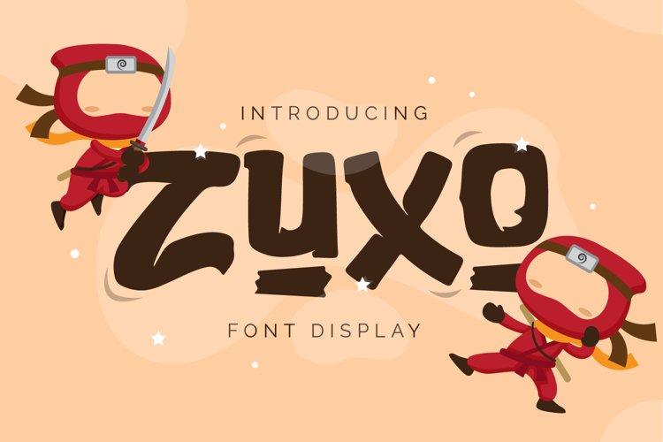 Zuxo - Display Font example image 1