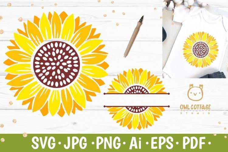 Sunflower Monograms svg, Sunflowers svg set for DIY crafts