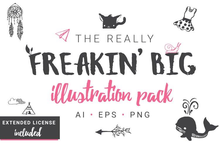 Really Freakin Big Illustration Pack