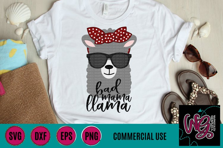 Bad Mama Llama SVG DXF PNG EPS Commercial example image 1