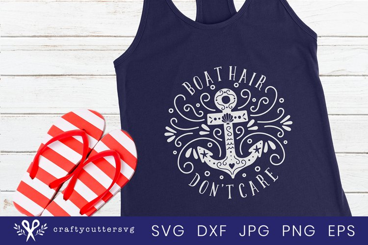 Boat hair don't care Svg Cut File Anchor Clipart - Free Design of The Week Font