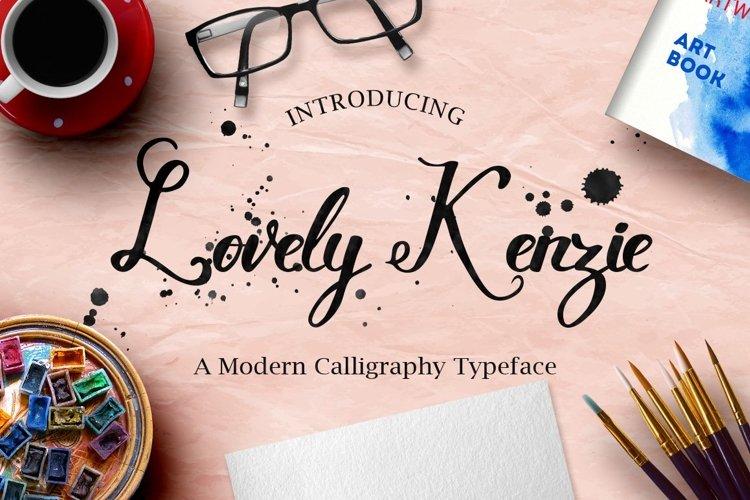 Web Font Lovely Kenzie Typeface example image 1