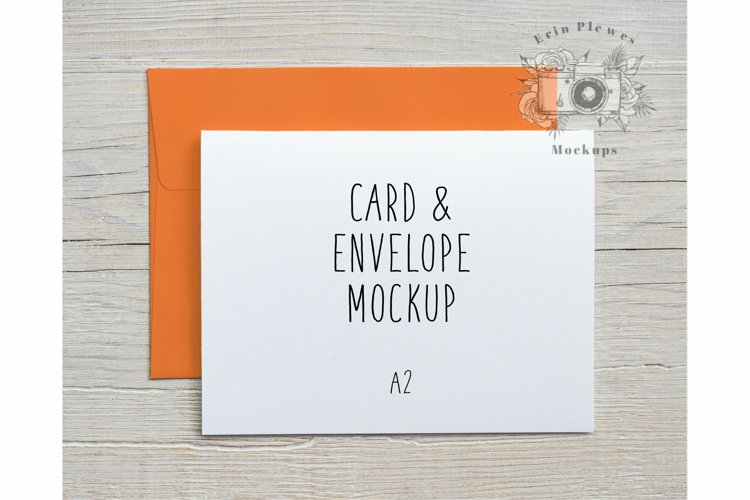 Mock Up A2 Card Orange Envelope   Card Stock Photo Farmhouse
