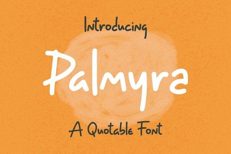 Web Font Palmyra - Quotable Font example image 1