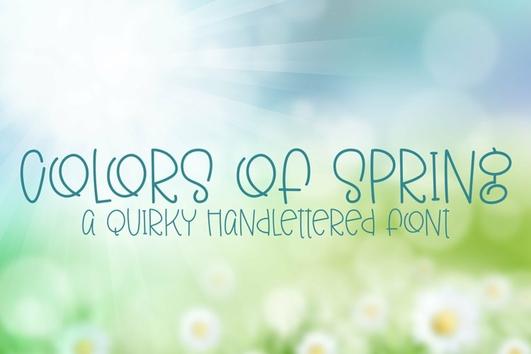 Web Font Colors of Spring - A Quirky Hand-Lettered Font example image 1