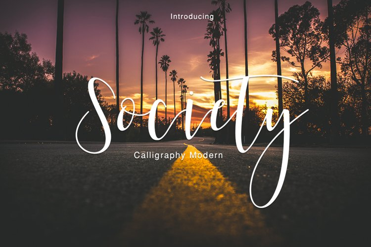 Society Calligraphy Modern
