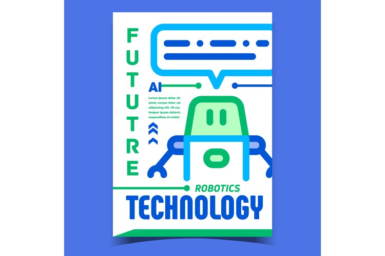 Robotics Technology Advertising Poster Vector example image 1