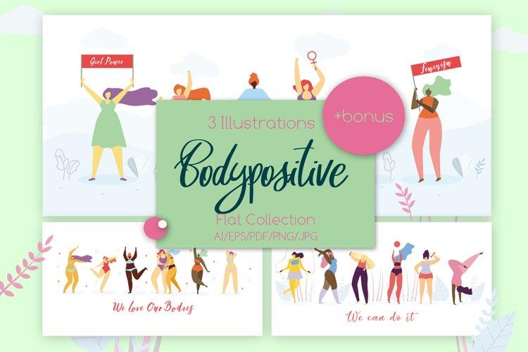 Body Positive Set Illustration