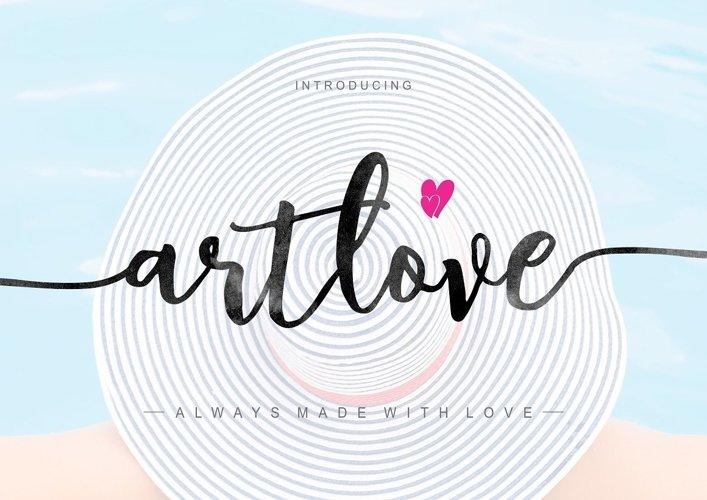 ArtLove Typeface example image 1